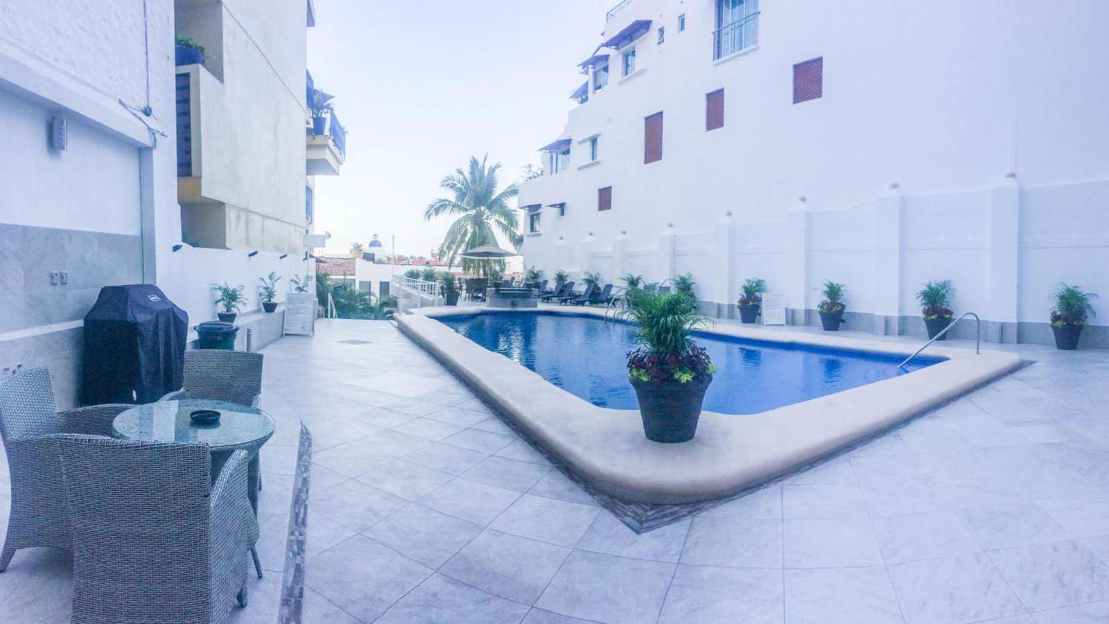 Boana Torre Malibu is a gay condo/hotel complex in Puerto Vallarta with the biggest pool in the city!