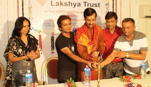 Manvendra's charity the Lakshya Trust focuses on HIV prevention and awareness