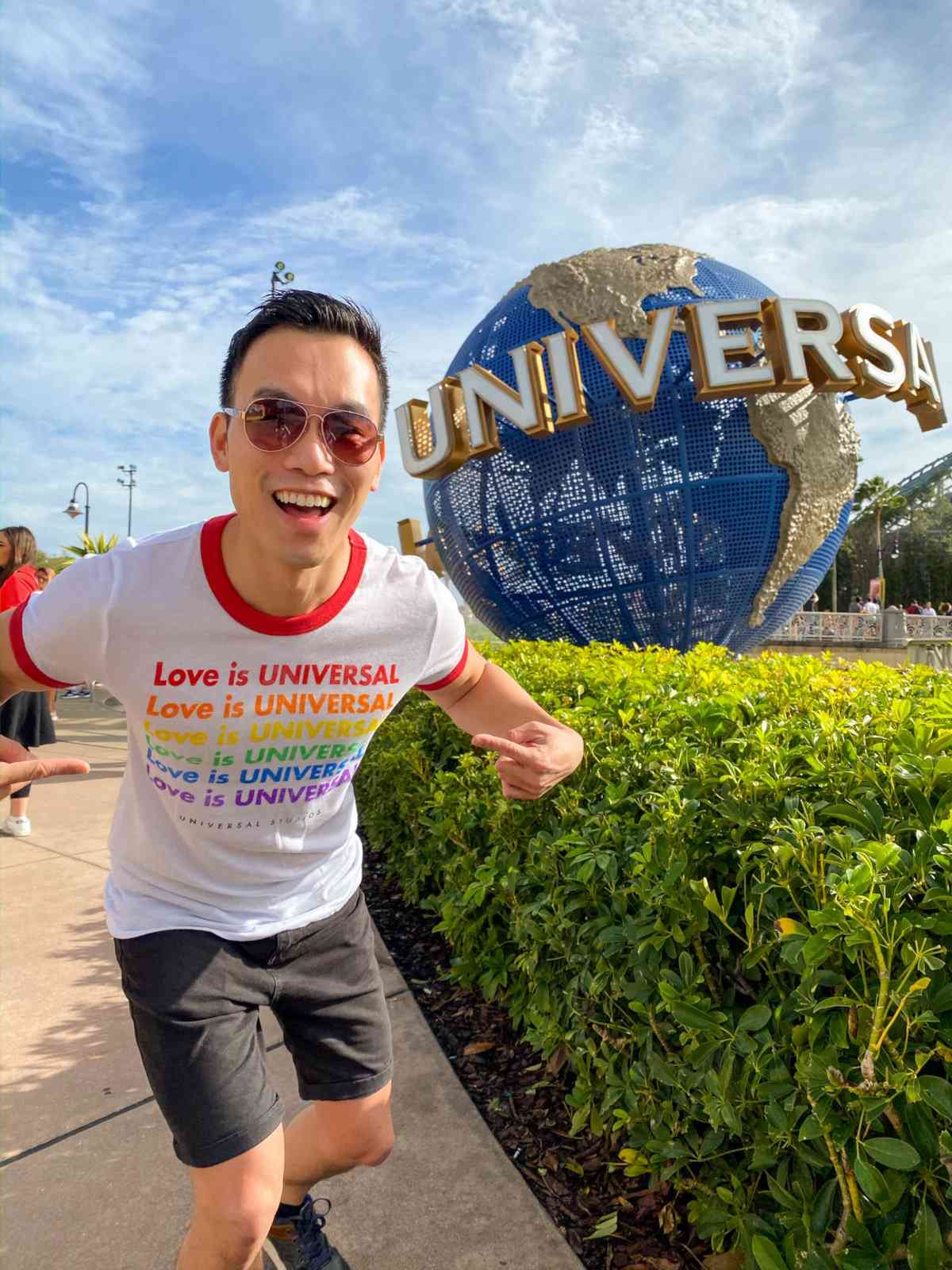 Universal Studios may not have an official gay pride event but they are very gay friendly