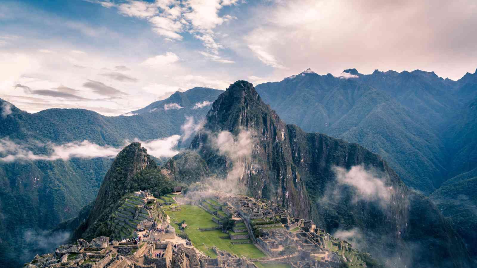 Macchu Picchu é um dos destinos mais populares do Peru