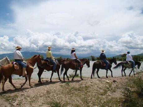 Going horseback riding through Coyote Canyon is a fun way to feel your own Mexican fantasy