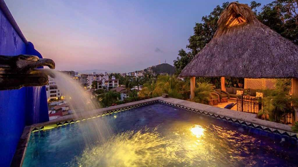 Villa Lola is a gay friendly adults-only bed and breakfast in Puerto Vallarta with stunning views