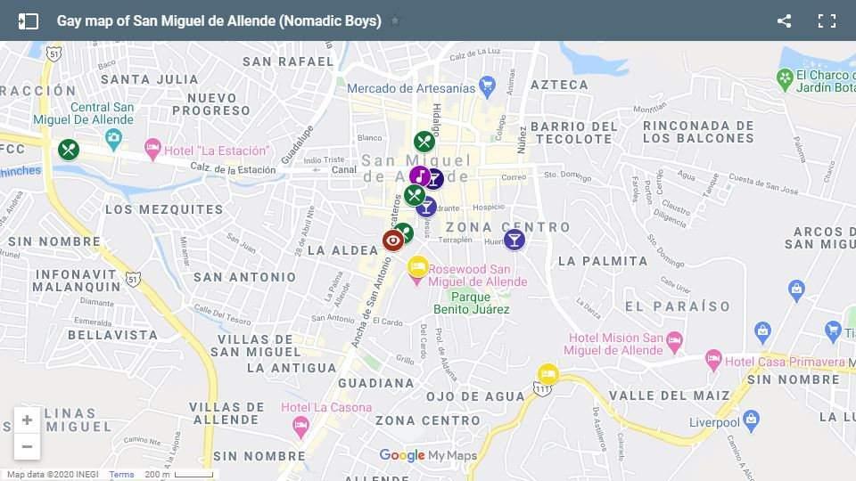 Use nosso mapa gay de San Miguel de Allende para planejar sua fabulosa viagem