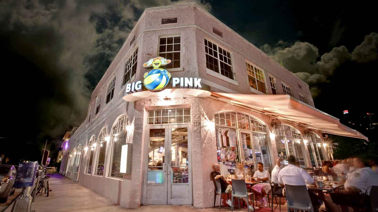 Big Pink is a gay bar and cafe in Miami with amazing brunch and, of course, very pink decor