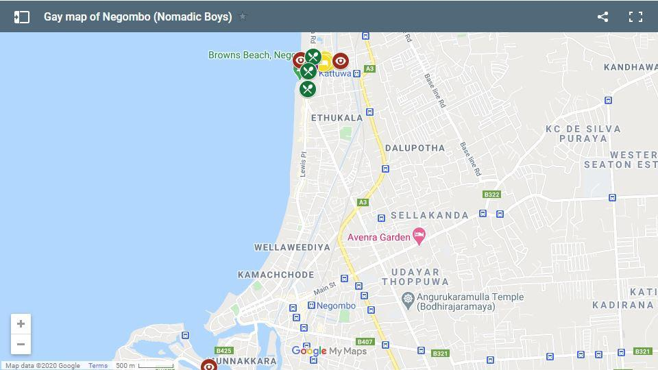 Use our gay map of Negombo to find all the best gay hangouts in this beach city