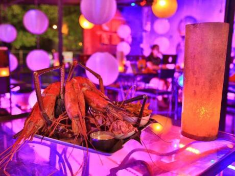 The restaurant areas at Negombo's Lords Restaurant Complex serve delicious food in a very fun and gay friendly atmosphere