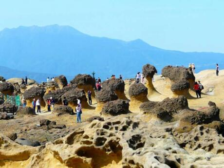 Gay travellers to Taiwan will be fascinated by the rock formations at the Yehliu Geopark