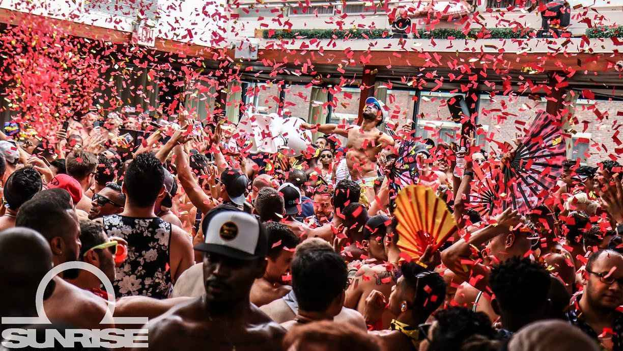 In New York City you can party New Year's Day away at the Alegria Sunrise gay party