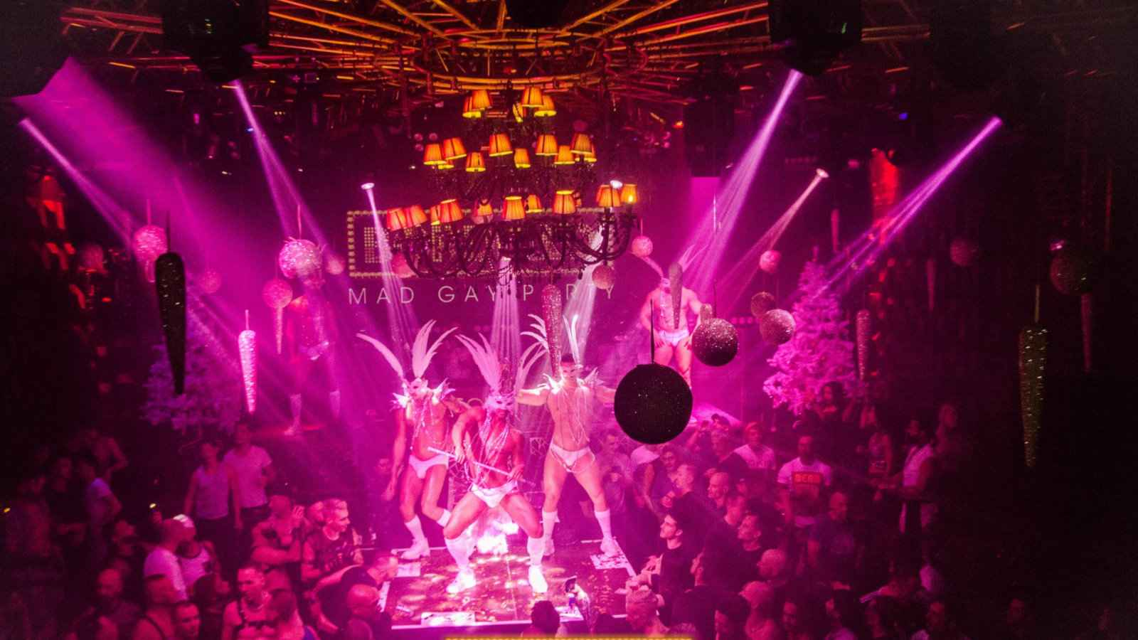 Bordello's gay New Year's Eve party in Switzerland is a decadent and sexy night