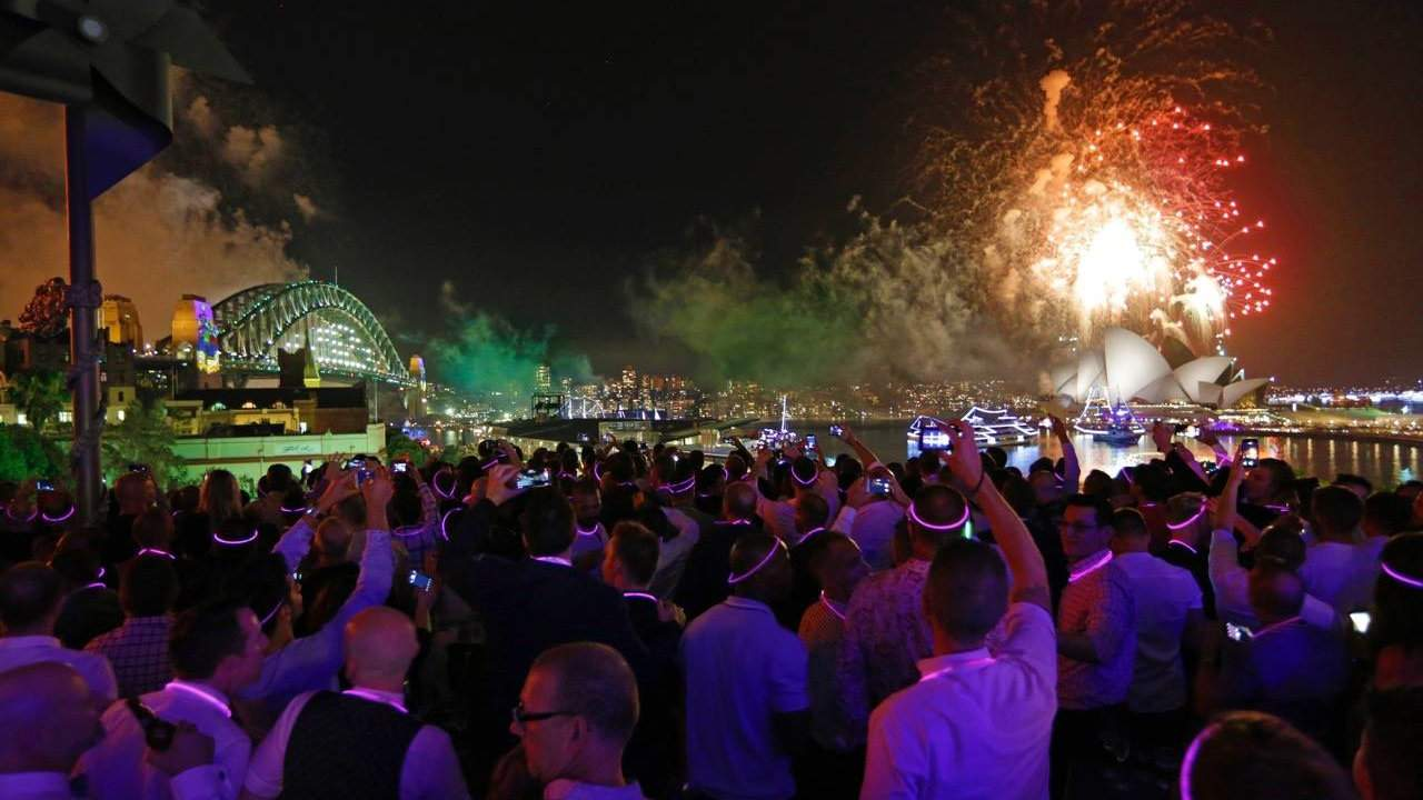 You can experience New Year's Eve in Sydney Australia at an exclusively gay party that features amazing views of the fireworks going off over the harbour