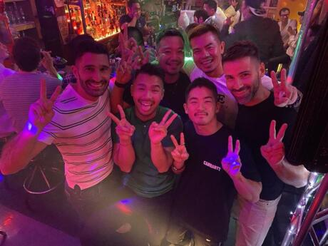 Grand Slam is a fabulous gay karaoke bar in Osaka with lovely staff