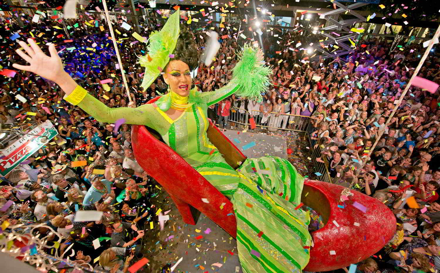 Of course gay Key West has the most camp New Year's Eve party, with a shoe drop complete with a drag queen inside it!