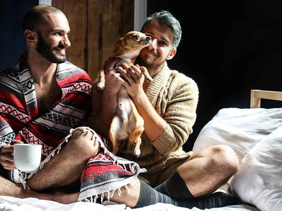 Cute gay couple Matt and Beau from Probably This write all about home decor, design and DIY along with recipes and travel contect