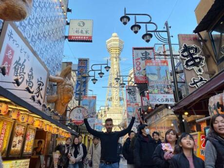 The Tsutenkaku Tower is a must-see while you're visiting Osaka
