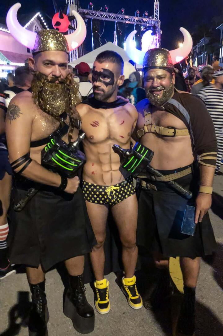 Gay Vikings Halloween costumes at Wicked Manors