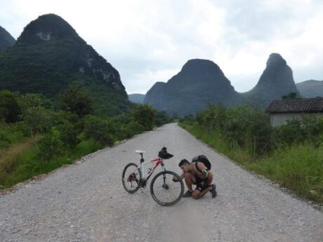 The Yangshuo region of China is the perfect spot for some cycling or hiking amongst the impressive Karst Peaks