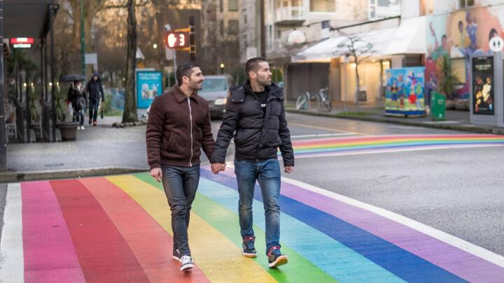 Rainbow crossing in Vancouver