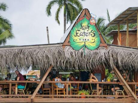 Leaf Eaters Cafe serves absolutely delicious vegan and vegetarian cuisine in Bocas del Toro