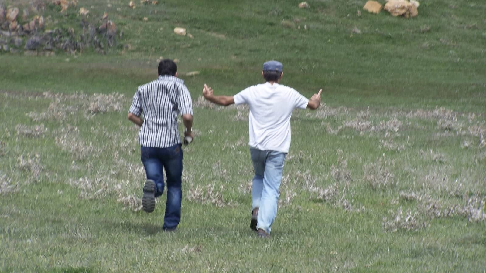 Sepehr gay guy in Iran running with his father
