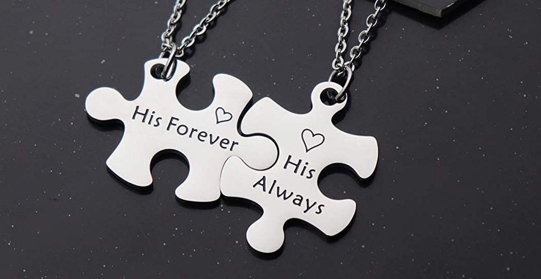 Matching necklaces are very romantic and sweet gifts to get for your favorite gay couple