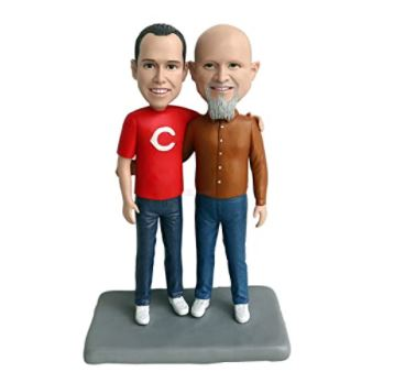 A custom figurine of the couple is a fabulous gift for the gay couple in your life