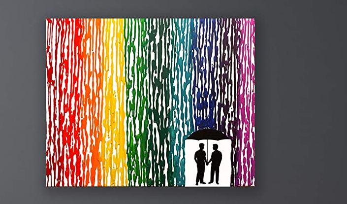 Art for the home is one of the best gifts for gay couples, especially if it's rainbow!