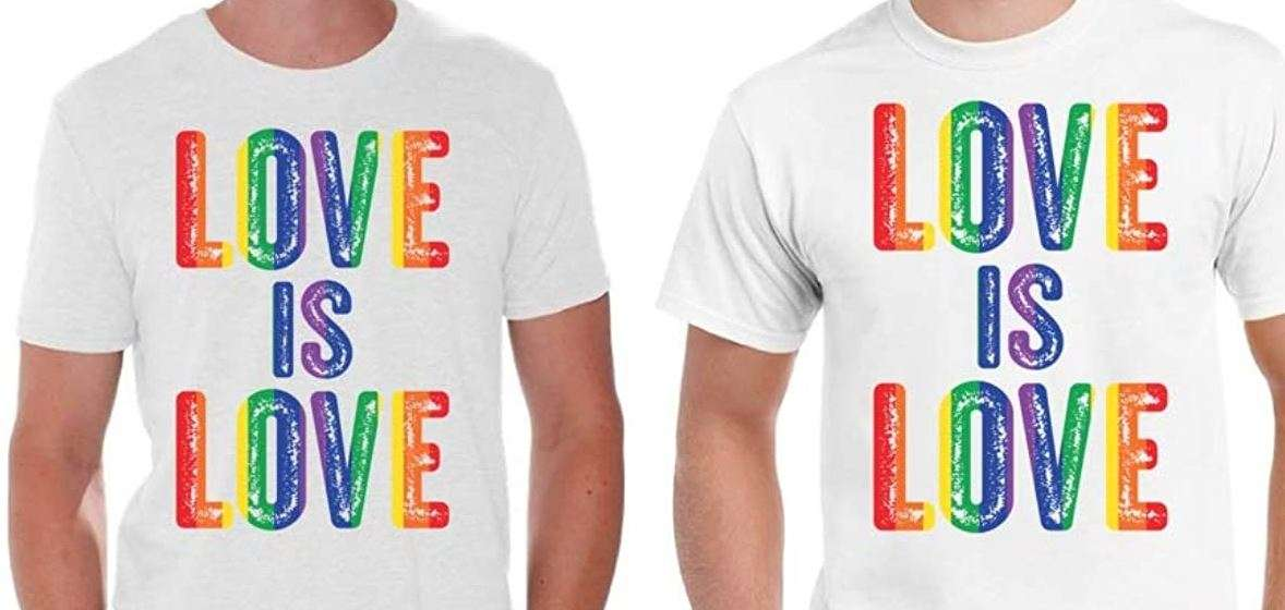 You can never go wrong with gifting a gay couple some cute matching clothing, especially if it shows gay pride!