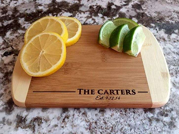A personalized cutting board is a sweet gift that a gay couple will smile at every time they use it