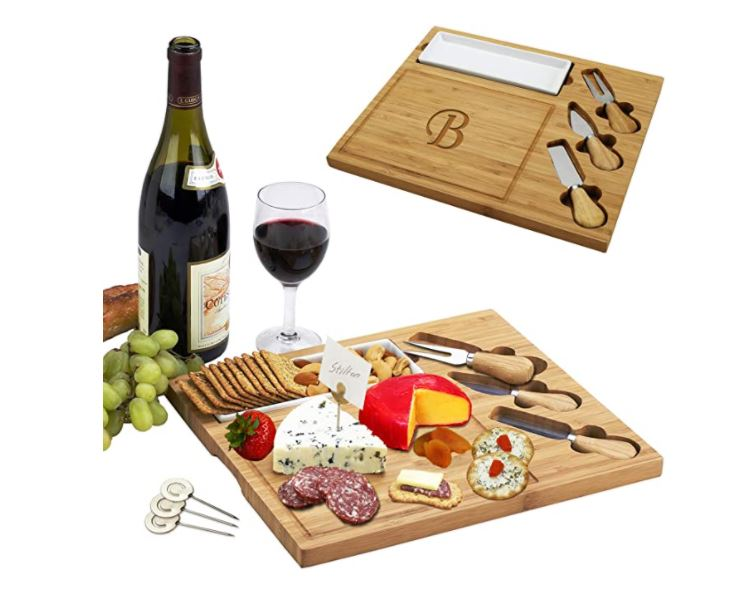 If your gay couple friends like to entertain then they are sure to love a personalized serving platter for wine and cheese nights
