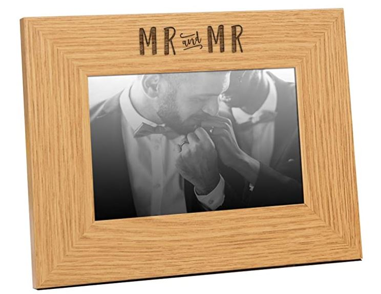 A personalized photo frame always makes a good gift for gay couples so they can treasure their memories together