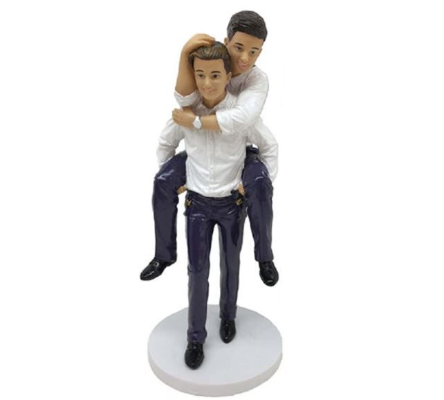 If your gay couple friend is about to get married then why not gift them a gorgeous gay wedding cake topper?