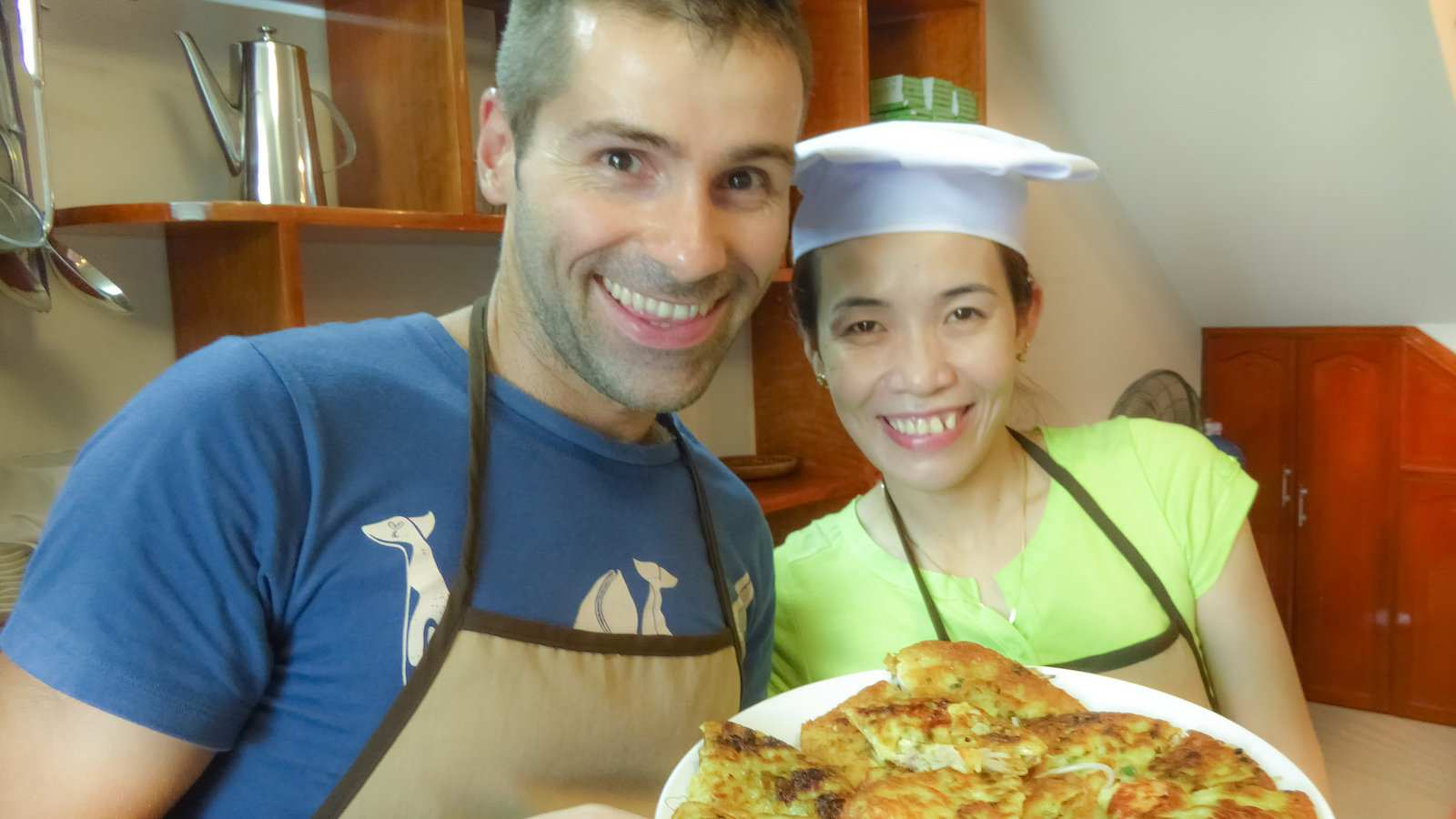 Banh xeo is a delicious traditional Vietnamese savory pancake that we loved!