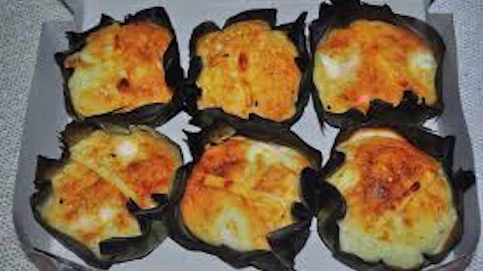 Bibingkas são um delicioso bolo filipino tradicionalmente comido na manhã de Natal