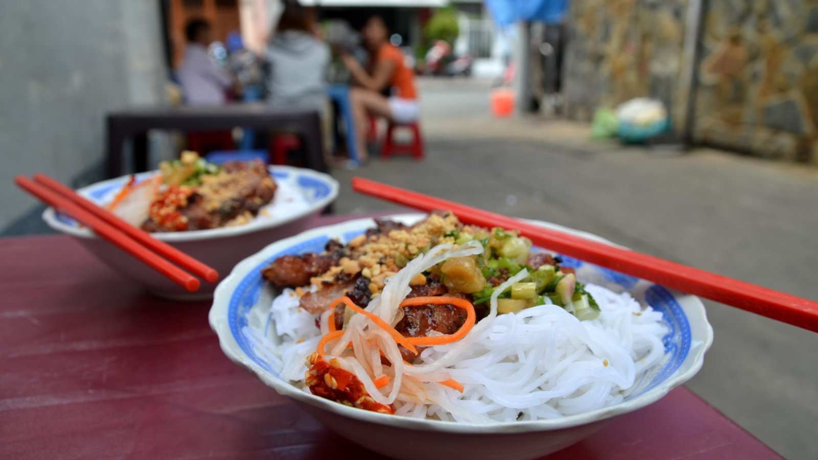 Bun Thit Nuong is a yummy traditional Vietnamese dish you can try in Saigon