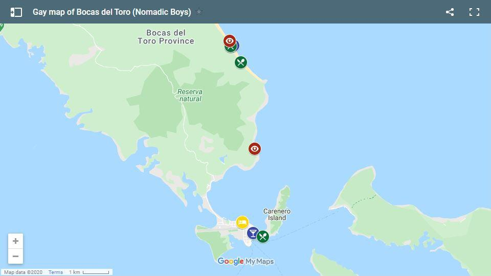 Use our map of Bocas del Toro to plan your own trip!