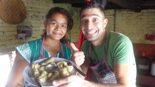 Momos are a traditional type of dumpling from Nepal, and they're delicious!