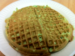 Banh kep la or pandan waffle is a traditional food from Vietnam that's also called a pandan waffle