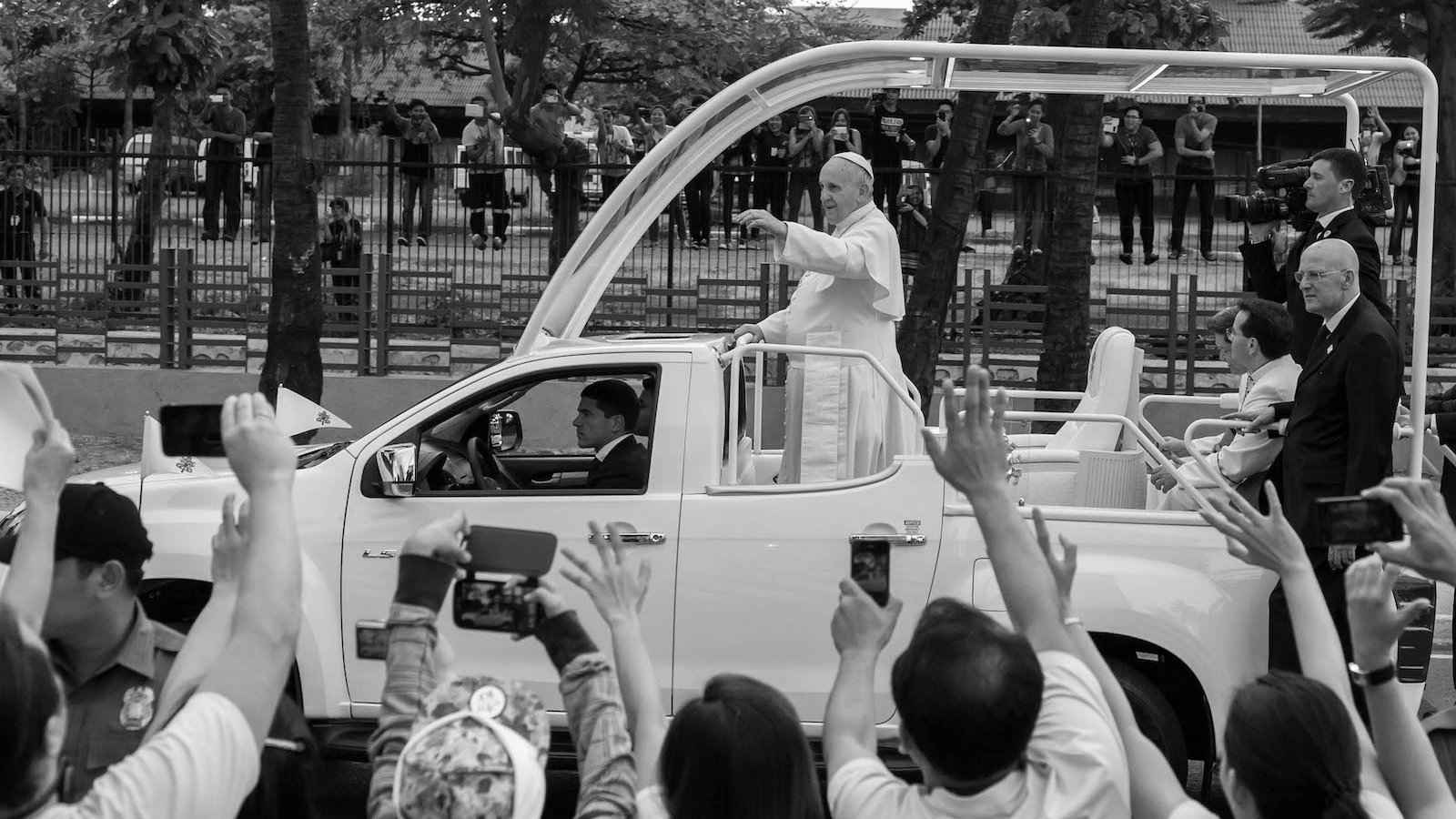 As a Christian country the Philippines even recorded the largest ever crowd to see the pope!