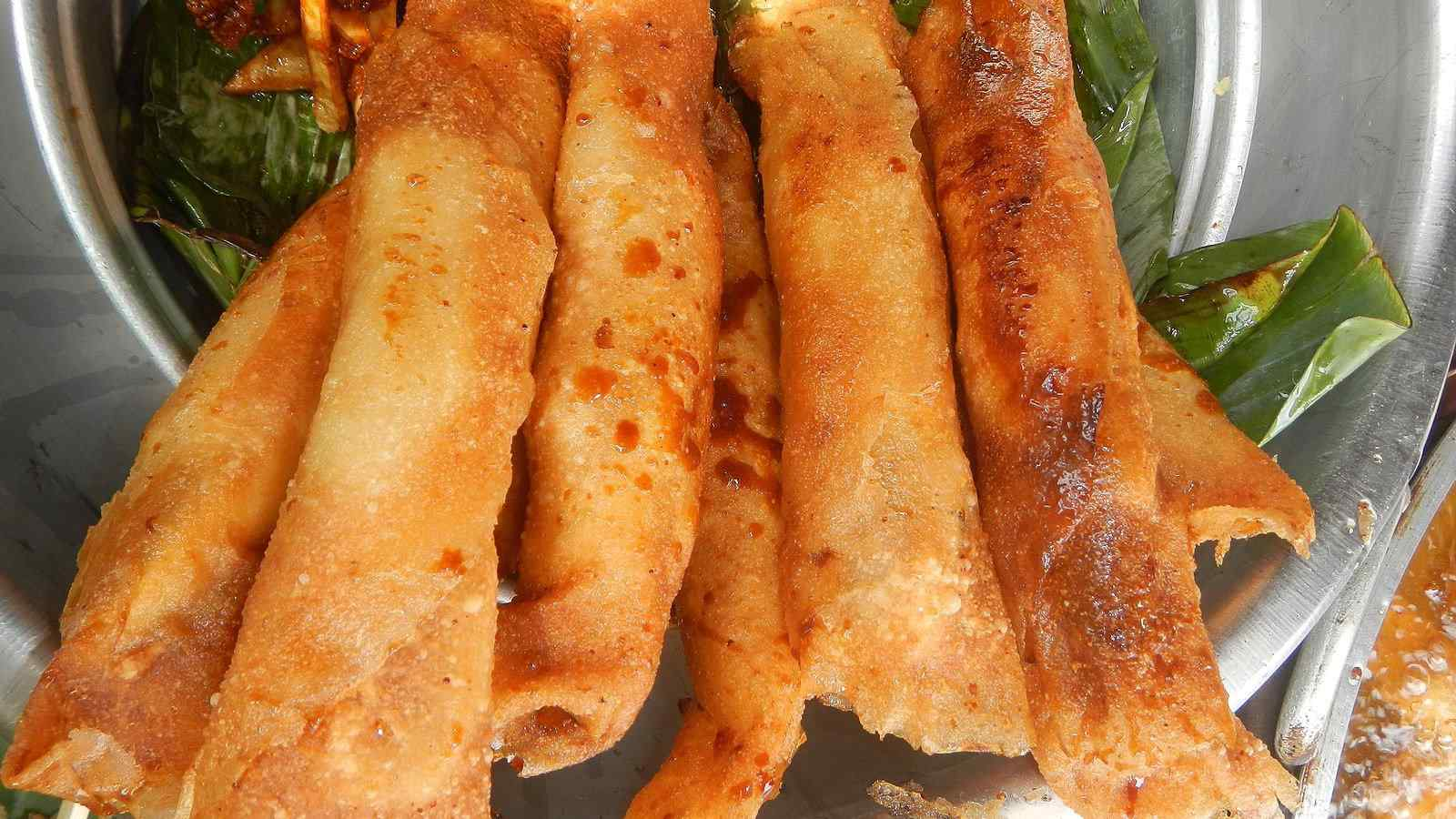 Turon is the name of Filipino sweet spring rolls, filled with banana or other delicious fruit