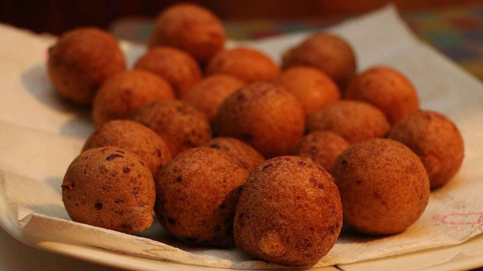 Bunuelos are a delicious cheesy and sugary ball from Colombia we loved