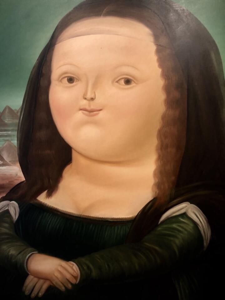 Obra de arte da Fat Mona Lisa Botero em Bogotá