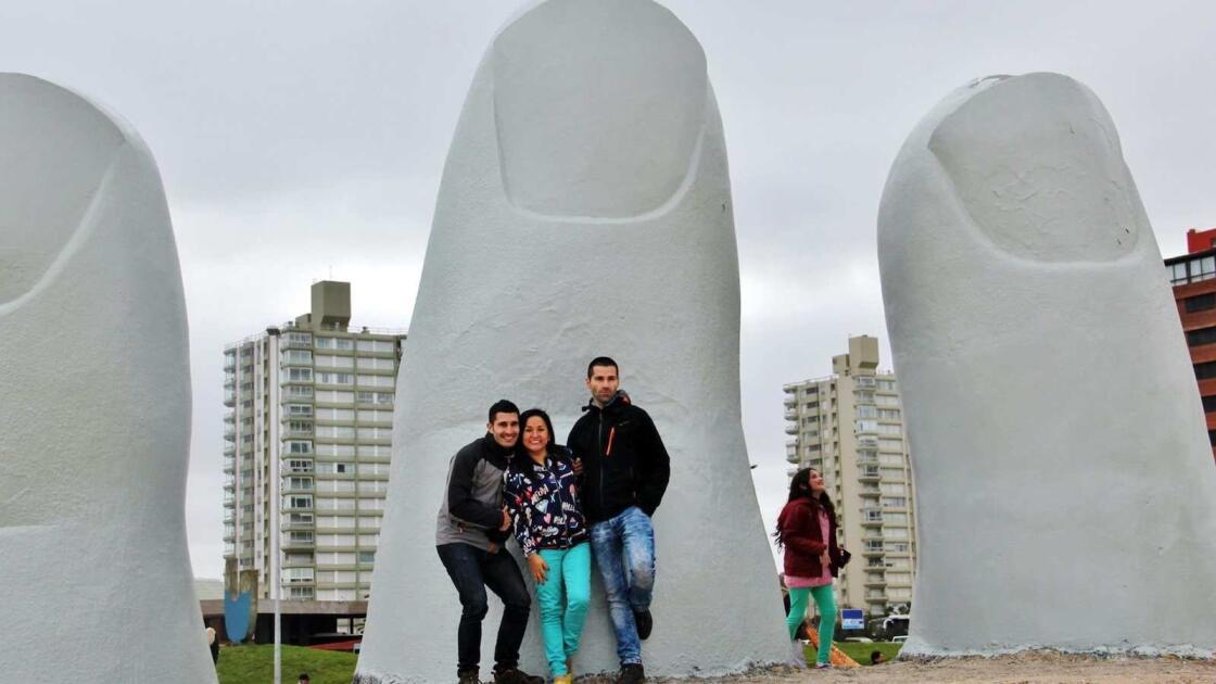 Interesting giant sculpture in Uruguay