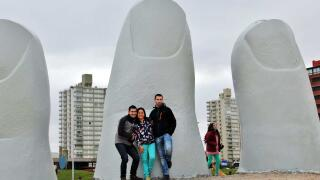 Interesting giant sculpture in Uruguay