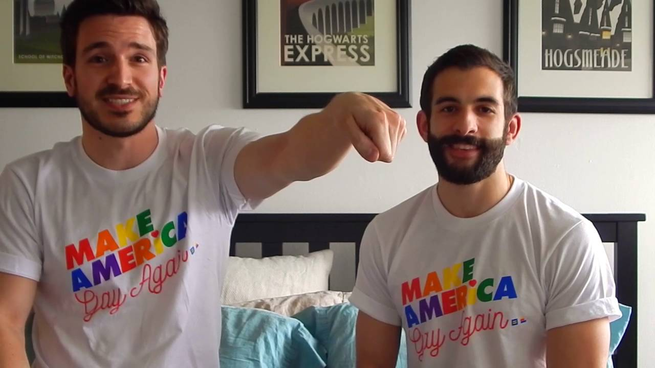 Justin and Nick are a cute and geeky gay couple with a fun YouTube channel