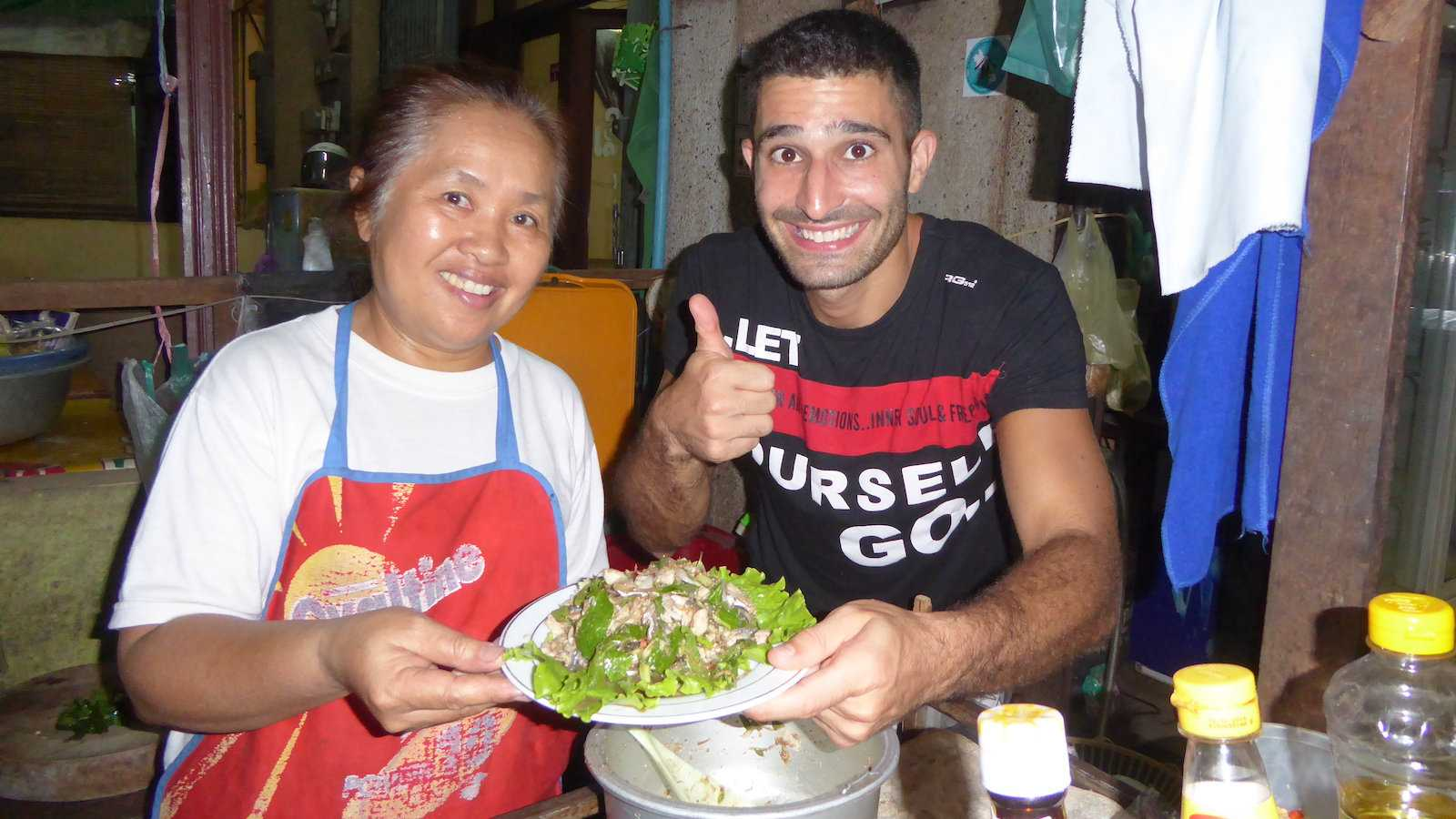 Laab is a spicy minced meat salad from northern Thailand which might not be to everyone's taste
