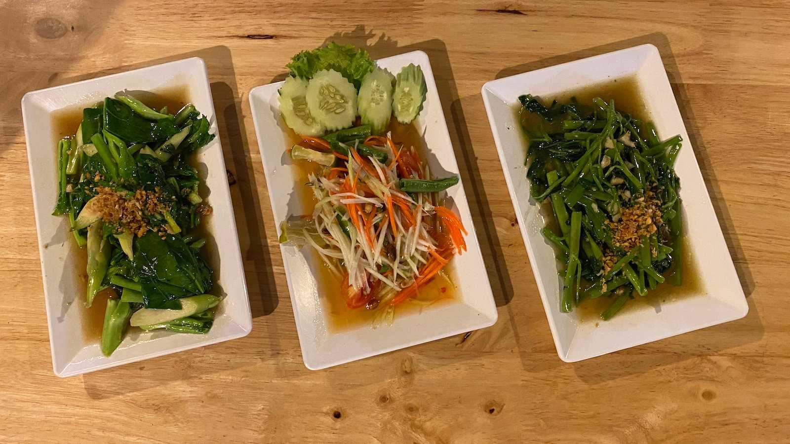 Morning glory is a delicious aquatic vegetable from Asia that we loved stir fried in the Thai style