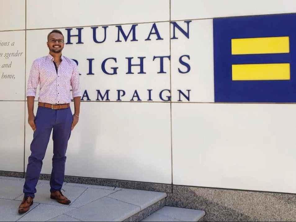 Muhammad trabalha muito para tornar a vida melhor para a comunidade LGBTQ em todos os lugares
