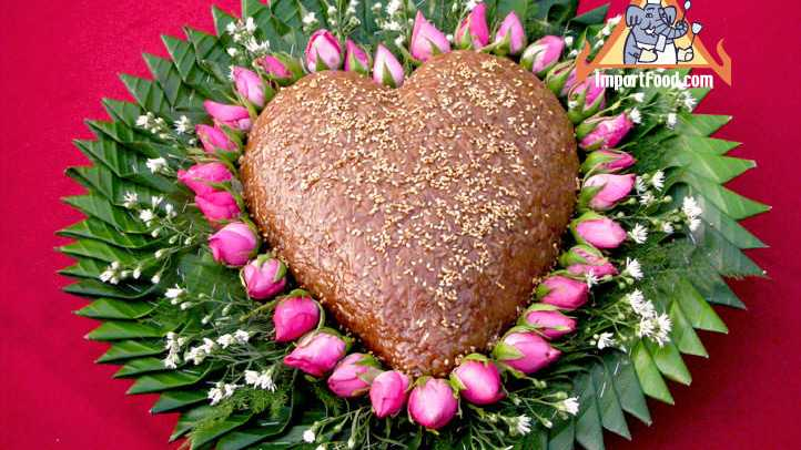If you attend a wedding in Bangkok you may get to try red sticky rice in the shape of a heart!