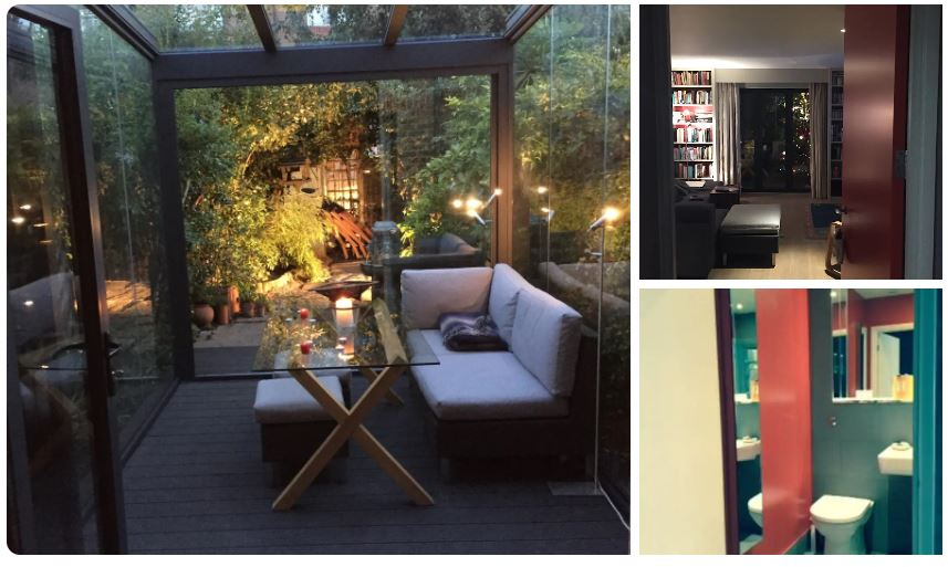 This gay Airbnb listing in London features a romantic garden for relaxing in