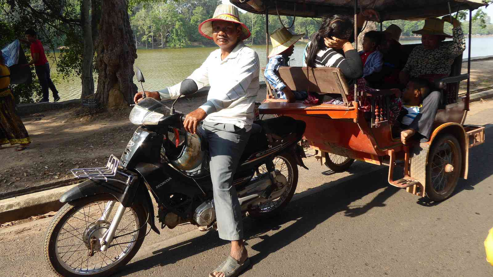 Cambodian tuk-tuks are also called remorques and are an excellent way to get around